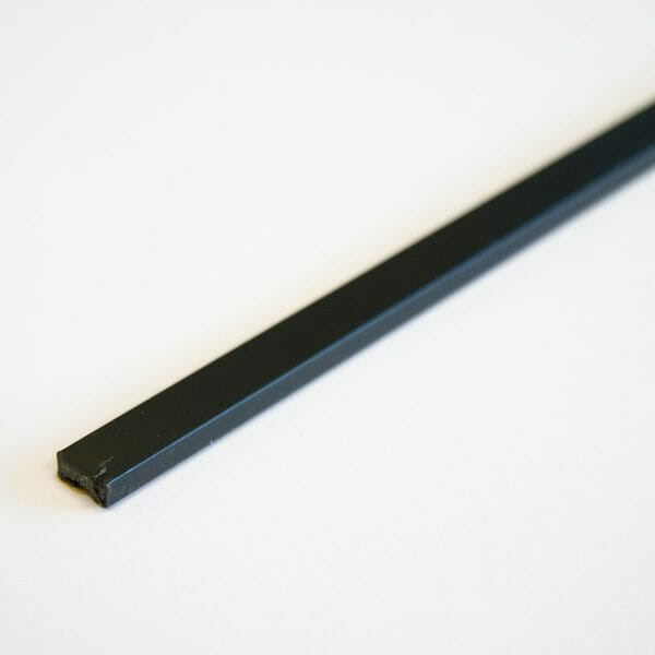 15 x 4mm Fire only intumescent strip 2.1m Black