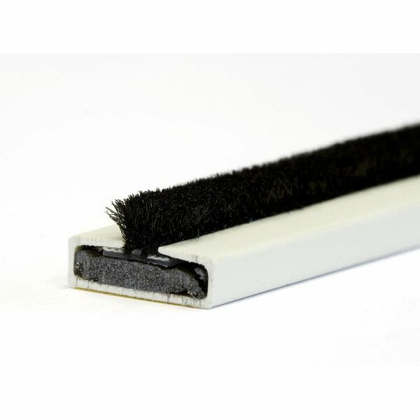 15 x 4mm Fire & smoke intumescent strip 2.1m White