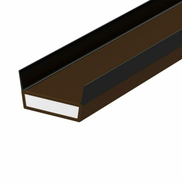 15mm x 4mm x 2.1m Lorient DS Side Twin Fin Intumescent Strip  Acoustic, Fire & Smoke